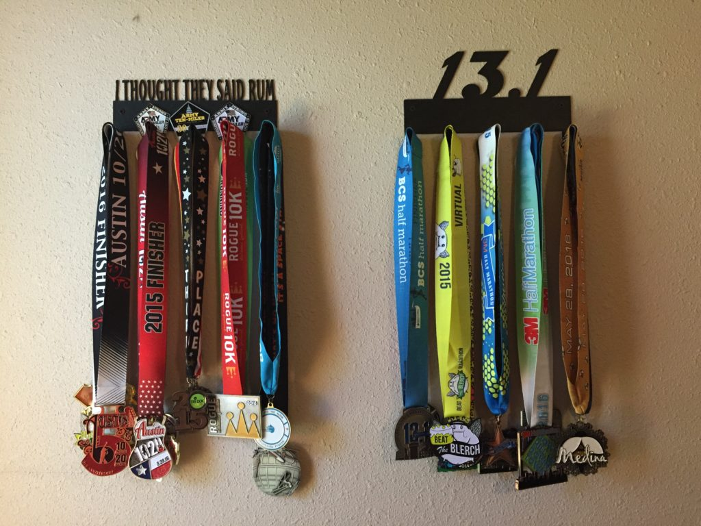 How do you display your medals?