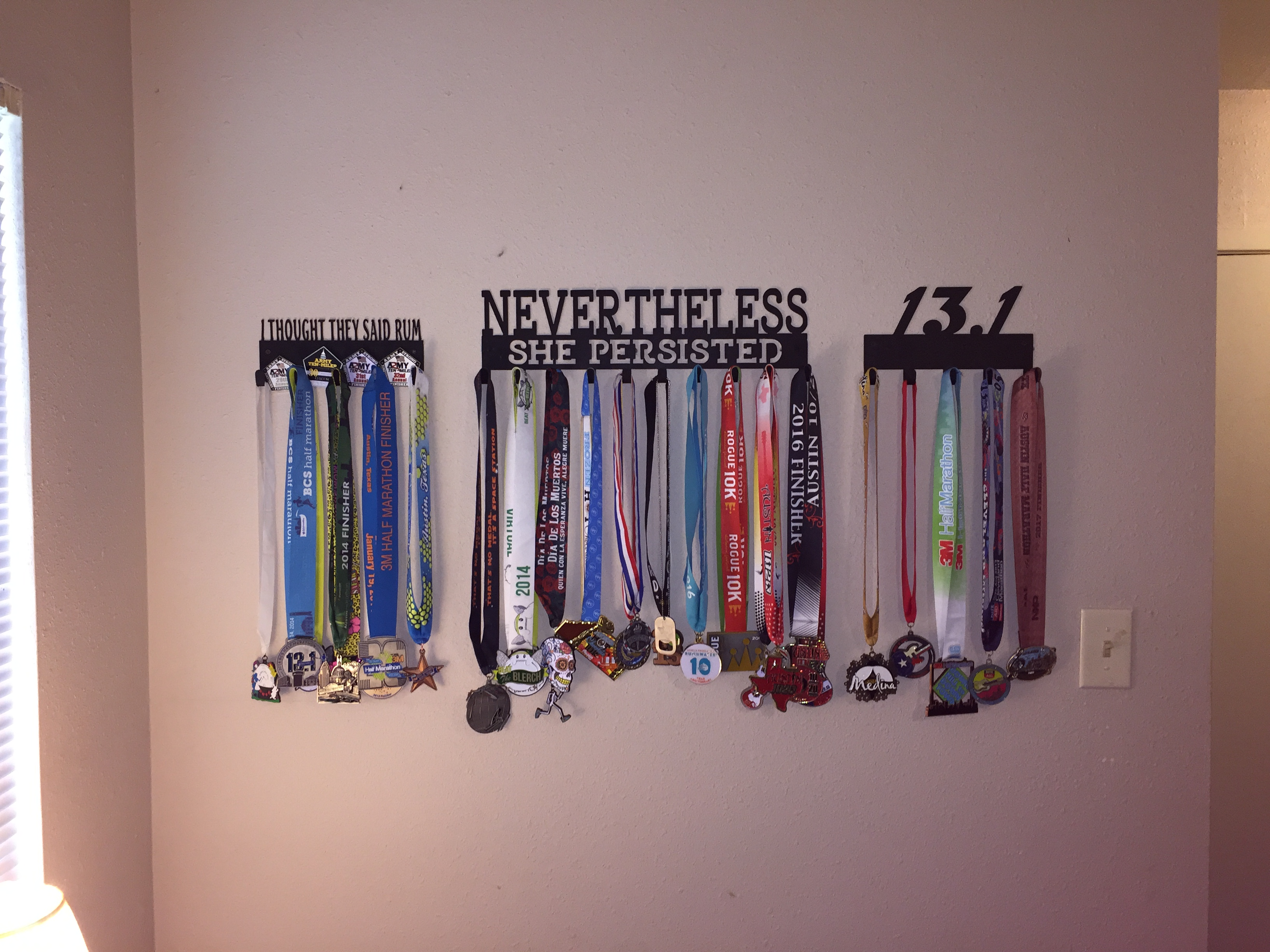 how do you display your medals