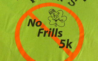 Vern's No Frills 100th 5k t-shirt